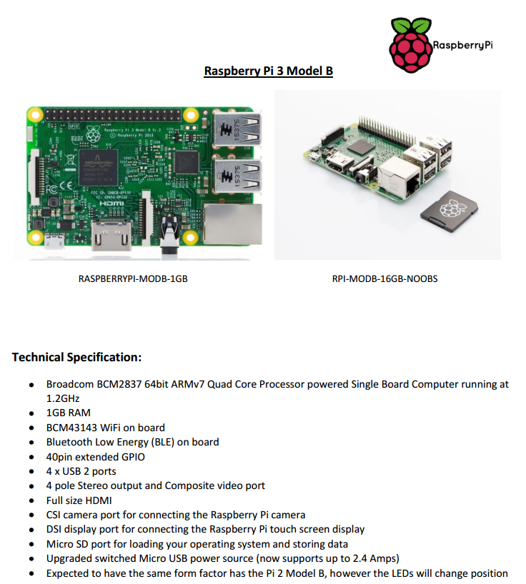 Raspberry Pi 3 Confirmed to have WiFi and Bluetooth.