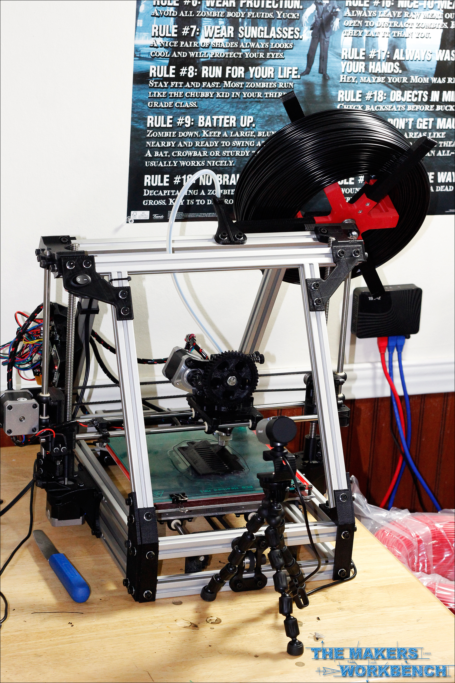 Printable Webcam Mount for MendelMax or Lulzbot AO-100 / A0-101