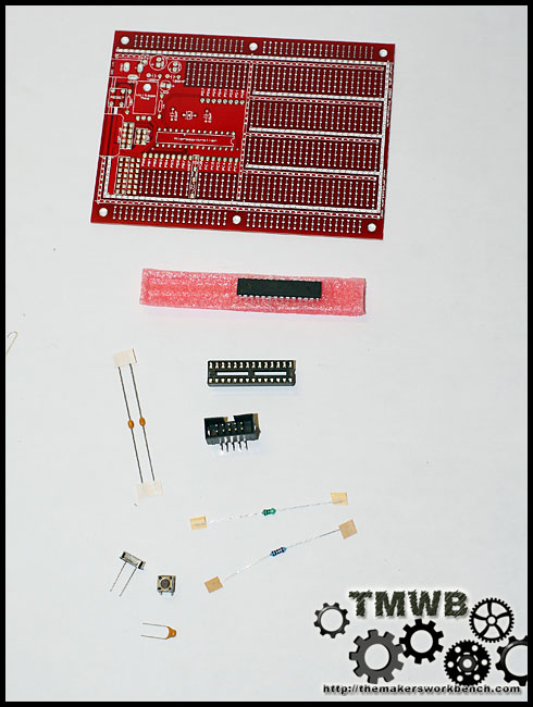 Protostack Atmega 8 dev kit