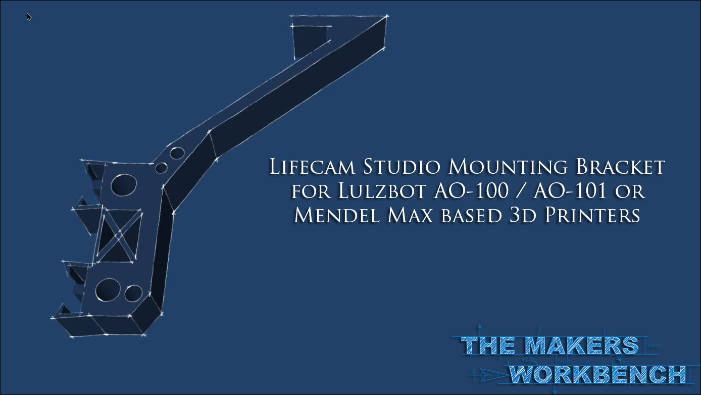 Printable WebCam Mount for RepRap Mendel Max or Lulzbot AO-100 / AO-101