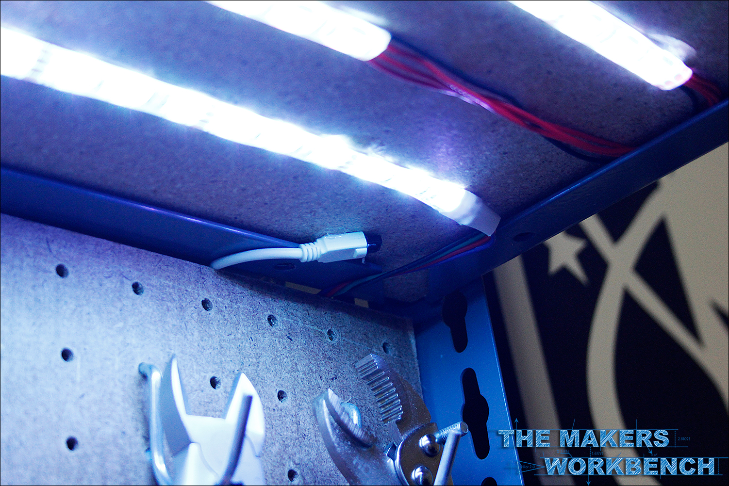 Rgb Led Under Shelf Bench Lighting The Makers Workbench