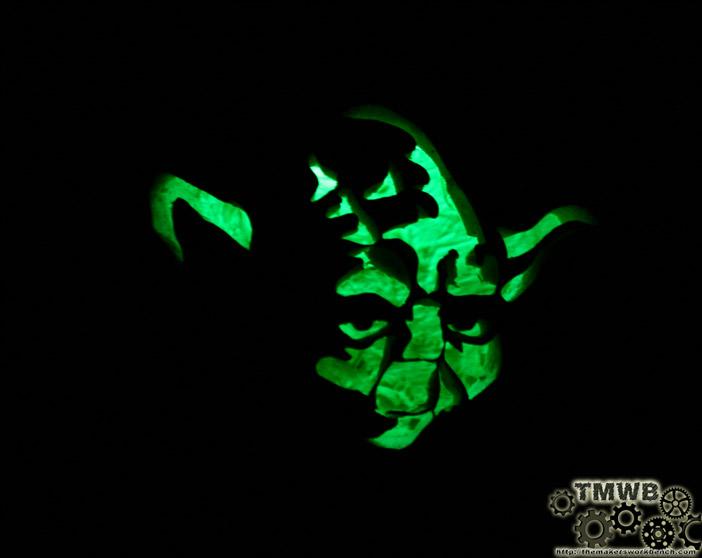 LED Lit Yoda Pumpkin! Star Wars Pumpkins, Pumpkin Carving